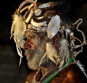 Iatmul Elder - Photograph by Anne Gordon